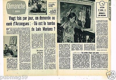 Coupure de Presse Clipping 1972 (2 pages) Luis Mariano Arcangues