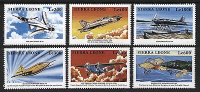 [AiR006]   Siera Leone 1999 Airplanes Issue MNH