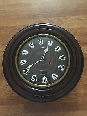 Lovely Continental Circular Dial Clock with Porcelain Numerals