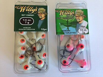 Jigheads 1/4oz - Fishing Tackle - 30 Packages of 10 Jigheads
