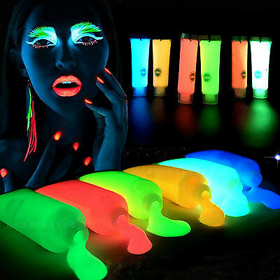 Fab Acrylic Paint Dyna Iridescent Fluorescent & Glow In The Dark Diy Party
