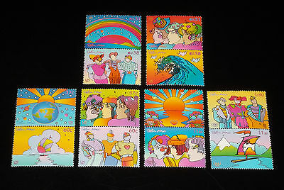 U.n. 2002,peter Max Earth Summit Pairs, Mnh,all 3 Offices  Nice! Lqqk!