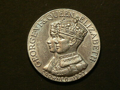 Birks, 1937 George VI Coronation Medal, Long May They Reign #4265