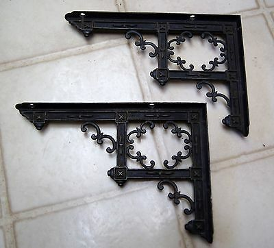 Antique Metal Shelf Brackets