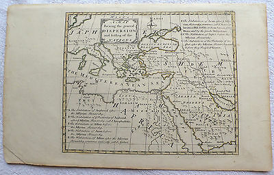 A Map Shewing the General Dispersion and Settling of the Nations (18th century)