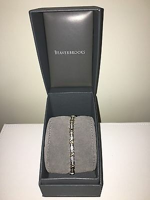 10k White and Yellow Gold with 1ct Channel Set diamonds Tennis Bracelet