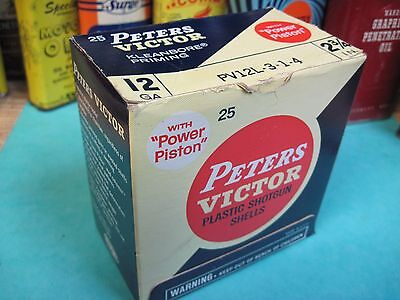 Peters Victor Shotgun Shell Box Empty 12 Gauge Remington New Plastic Original