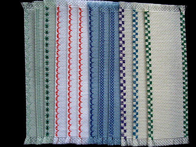 12 Cross Stitch Blank  Aida Fabric  Bookmarks Variety Of Edges  14 Count 24X92