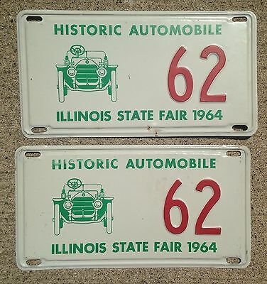 1964 Illinois State Fair Historic Automobile License Plates Ford GM Mopar Chevy