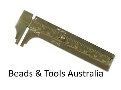 Brass Slide Caliper Gauge - Measure beads etc quick and easily!  BEADS & TOOLS
