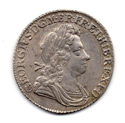 1723 Shilling, George I Laureate Bust, Ssc In Angles