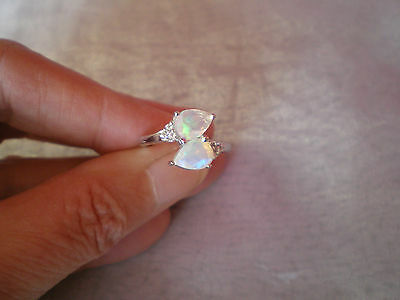 Ethiopian Opal ring, size N/O, 1.37 carats, in 2.55 grams of 925 Sterling Silver