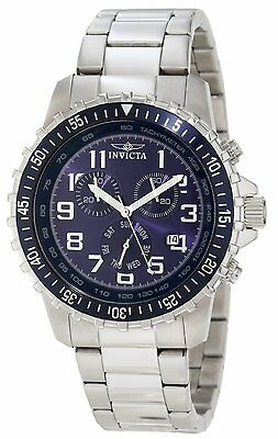 Invicta Men's 6621 Specialty Quartz Chronograph Blue Dial Watch Stainless Steel