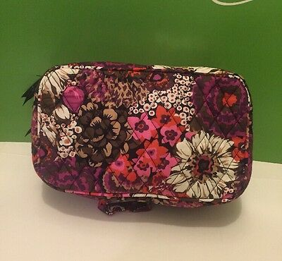 NWT Vera Bradley Blush And Brush Makeup Case In Rosewood