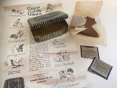 John Bull Mend a Tear Tin With Contents and Instructions - Vintage