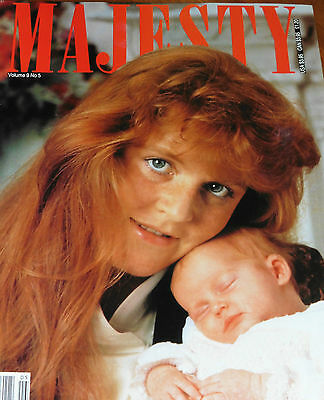 Majesty Volume 9 No.5 Fergie & Beatrice Diana Ogilvy Wedding  September 1988