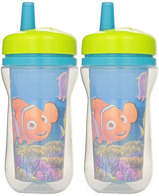 The First Years 9 oz Insulated Straw Cup - Finding Nemo - Set of 2