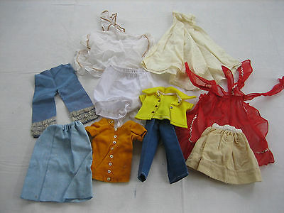 Mixed Lot Of 10 Vintage Antique Larger Size Doll Clothes - Lot DD21