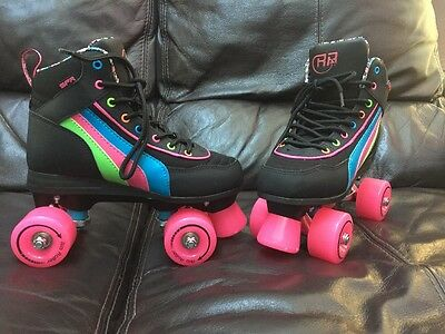 Excellent Used condition Girls Ladies SFR Rio Quads Roller skates Passion Size 4