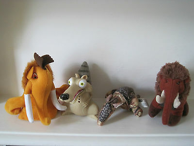 Ice Age Manny Finger Puppet & Soft Toy/Armadillo Soft Toy & Scrat Figure