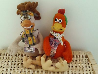Chicken run figures - Mac and Ginger