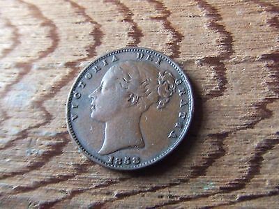 Queen Victoria.   1858, Farthing.     Nice Condition.