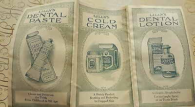 Vintage Dental Advertising -Excellent Pamphlet Lilly Dental Lotion