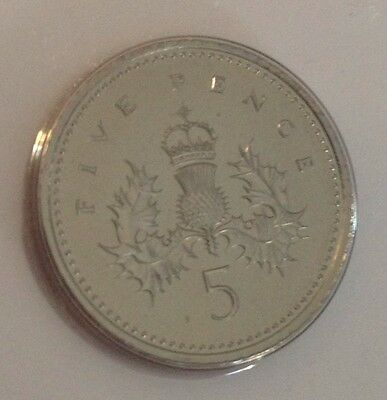 1993 RARE ISSUE BUNC Five Pence Coin 5p UNC Uncirculated