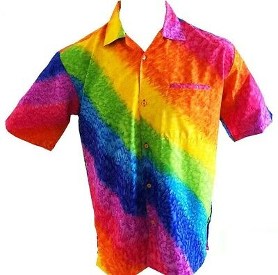 Rainbow Mens Party Bucks Night Hawaiian Shirt