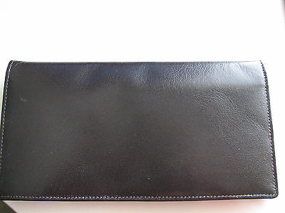 Vintage Gary's Leather Wallet checkbook billfold card holder  NEW brown RARE