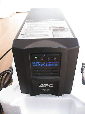 APC SMART-UPS SMT 750i VA LCD TOWER UPS WITH NEW RBC48 BATTERY & CABLES
