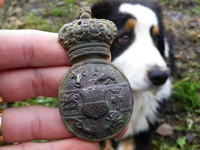 (1500 Ad): Mecklenburg-Strelitz: Massive Medieval Town Coat Of Arms - Rare!!!!!