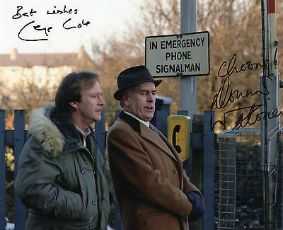 Authentic Signed  George Cole + Dennis Waterman  Minder 10 X 8  Real Signatures