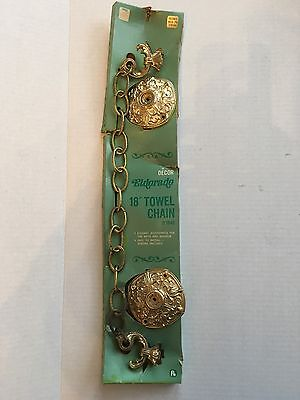 "Vintage 18"" Towel Chain Accessory Bath   Boudoir Hollywood Regency NEW OLD STOCK"
