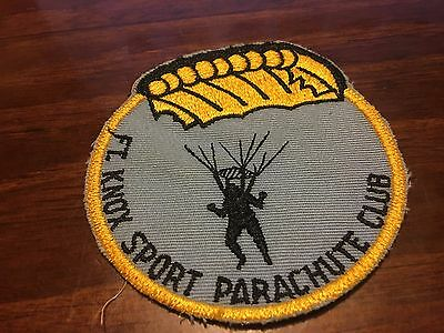 Fort Knox Sports Parachute Club Patch