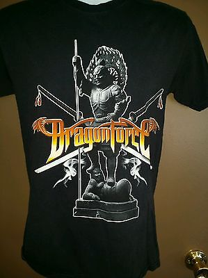 Men's Small DRAGONFORCE 2007 Inhuman Rampage World TOUR Heavy Metal Rock Band