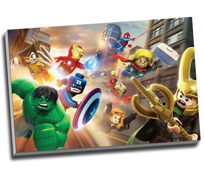 """Large Lego The Avengers Canvas Print Poster 30x20"""" A1"""