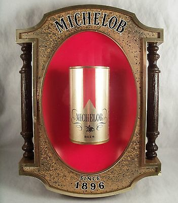 Vintage Michelob Beer Can Sign Man Cave Anheuser - Busch Inc 372-142 Since 1896