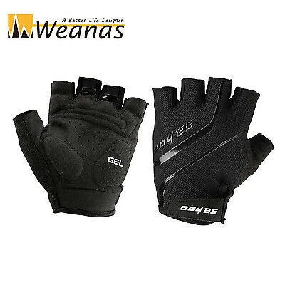 WEANAS Fashion Men Breathable GELSilicone Racing Bike Bicycle Half Finger Gloves
