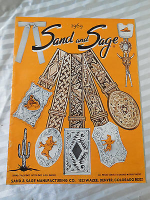 SAND and SAGE Mfg Co. -1969 Catalog - Western Belts - Buckles - Bolo Ties - Hats
