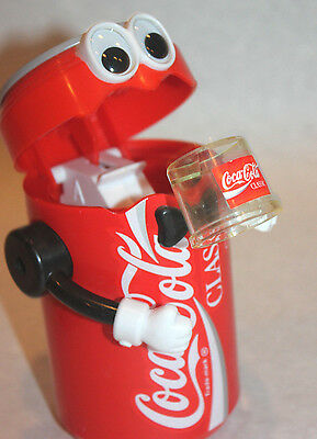 CLEAN Vintage CocaCola soda can drinking bank arms WORKS mechanical coke classic