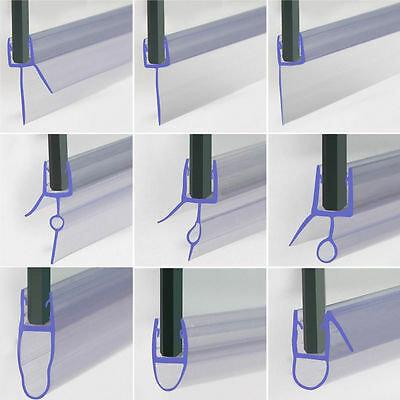 Shower Screen Seal Strip For 4-6mm Curved /Flat Glass Bath Door Up to 3-30mm Gap