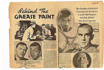 Boris Karloff 1932,33,35+ Vintage Original Clippings Frankenstein Mummy Movie