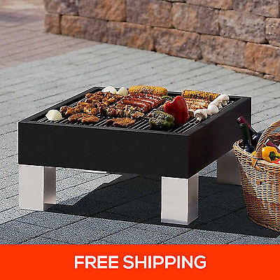 2in1 Outdoor Fire Pit BBQ Table Grill Garden Patio Home Heater Fireplace