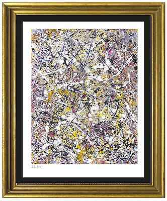 """Jackson Pollock Signed & Hand-Numbered Limited Ed """"Number 1"""" Lithograph Print"""