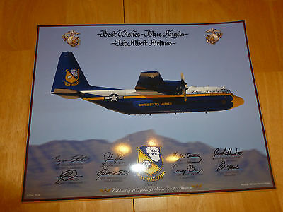 "US Marines Blue Angels 2012 Fat Albert Airlines Best Wishes Poster Print 11""x14"""