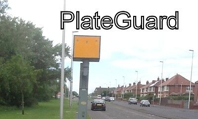 JCB Hi Ab ONE PAIR of Number Plate Camera Flash and Damage Protect by PlateGuard