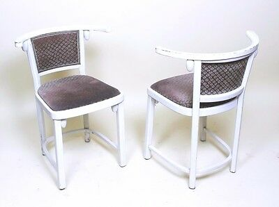 1 Of 4 Vintage  Josef Hoffmann Fledermaus Painted Beech Chairs By Thonet