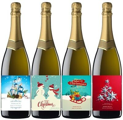 Say it with Wine Mixed Christmas Sparkling Wine 6 pack