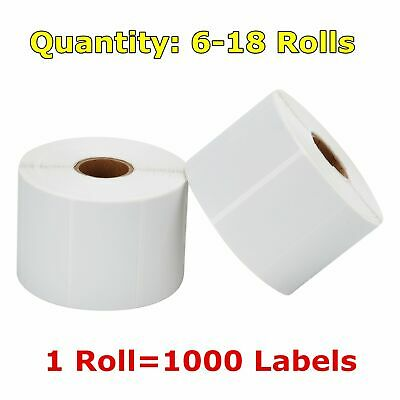 "6-30 Rolls 2.25"" x 1.25"" Direct Thermal Barcode Price Labels Zabra LP2824 LP2844"